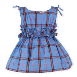 Rochiță albastră cu dungi roșii