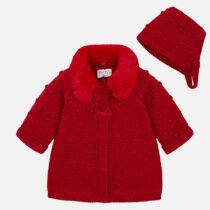 Palton si caciula tricot bebe Mayoral