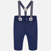 Pantaloni lungi cu bretele albastru Mayoral