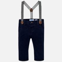Pantaloni chino cu bretele bebe baiat Slim Fit Mayoral