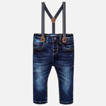 Pantaloni denim cu bretele bebe baiat Slim fit Mayoral