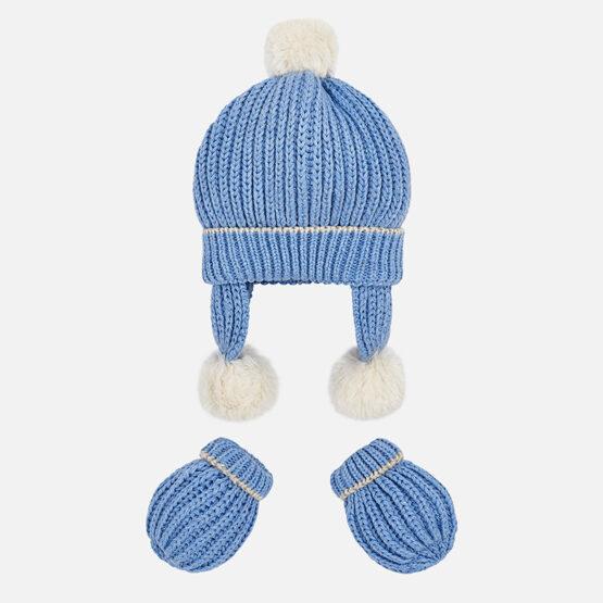 Set manusi si caciula tricot bebe Mayoral