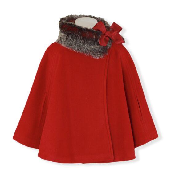 Palton rosu Miranda Textil