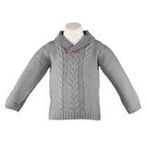 Pulover gri tricotat Miranda Textil