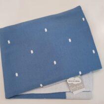 Paturica tricotata albastra cu buline Guti-Baby