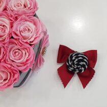 Clama rosie cu trandafir Basmarti