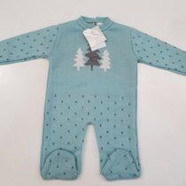 Salopeta tricotata verde Guti-Baby