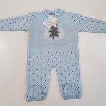Salopeta tricotata blue Guti-Baby