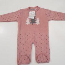 Salopeta tricotata roz Guti-Baby