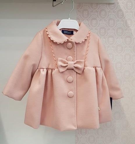 Palton roz cu fundita Basmarti