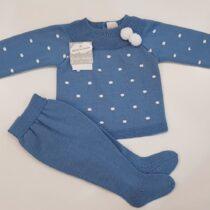 Costumas albastru cu buline albe Guti-Baby