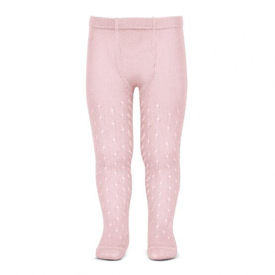 Ciorapi cu chilot roz cu model Condor