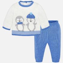 Set bluza si pantaloni tricot bebe baiat Mayoral