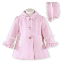 Palton si caciula bebe roz Miranda