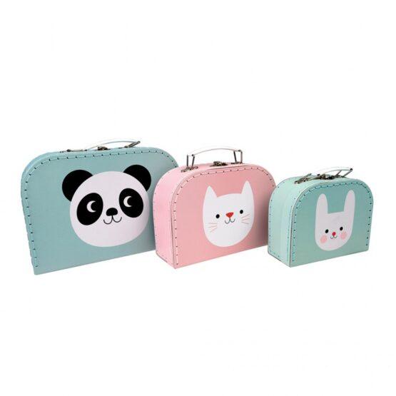 Set 3 valize pentru copii animale
