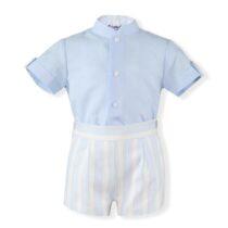Costumas baiat albastru cu dungi Miranda Textil