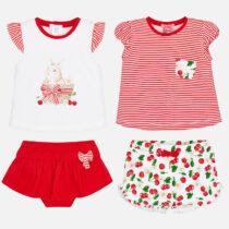 Set tricouri si pantaloni scurti imprimeu bebe Mayoral