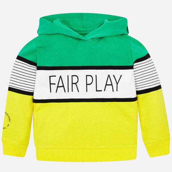 Hanorac gluga Fair Play baiat verde Mayoral