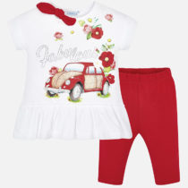 Set tricou si leggings scurti masina fetita Mayoral