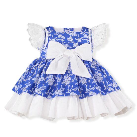 Rochita bebe Miranda albastra cu flori