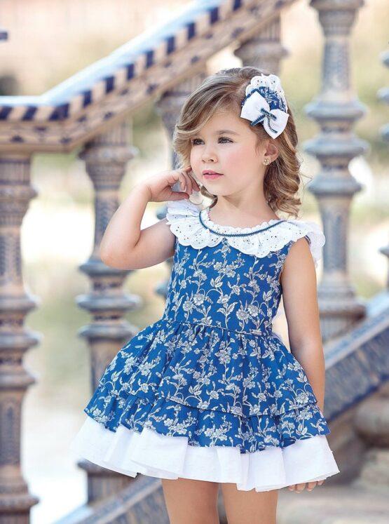 Rochita fete albastra cu flori Miranda