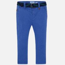 Pantaloni chino lungi curea slim fit albastru Mayoral