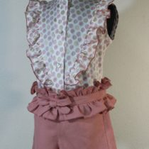 Pantalon scurt fete roz Basmarti