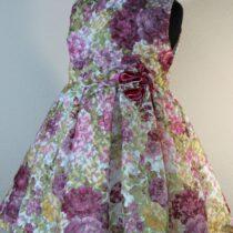 Rochie din organza cu flori Basmarti