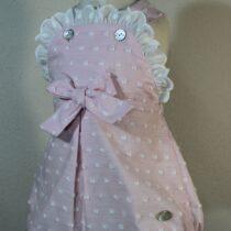 Salopeta roz cu buline albe Basmarti