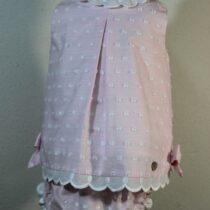 Costumas roz cu buline albe Basmarti