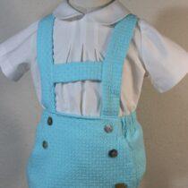 Costumas bebe albastru deschis Basmarti