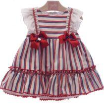 Rochie dungi alb-rosu-albastru YD