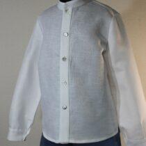 Set pantalon scurt albastru lucios cu cămașă Basmarti