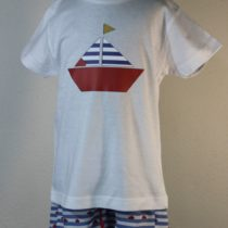 Set băiat tricou-short bărcuță Basmarti