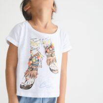 Tricou imprimeu-sandale Petit Bazar
