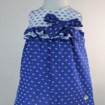 Rochiță alb-albastru fundiță Basmarti
