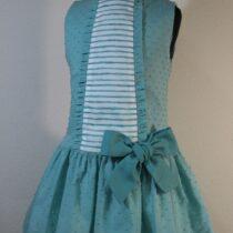 Rochie verde cu dungi albe Basmarti