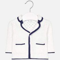 Jachetă tricotată cu guler rever pentru băiețel nou-născut Mayoral