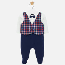 Costumaș lung vestă carouri bebe băiat Mayoral