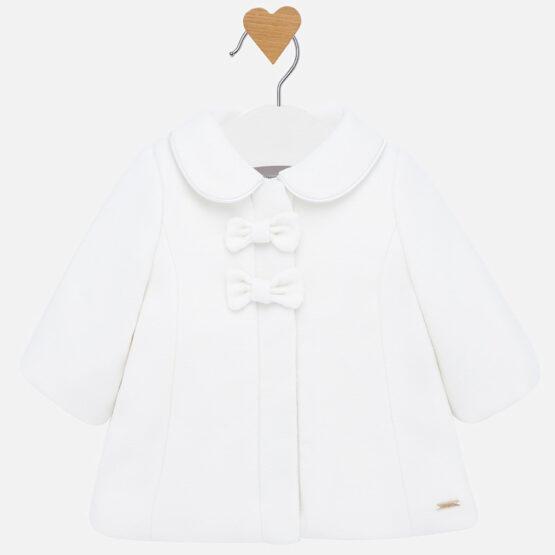 Palton fundițe alb fetiță Mayoral