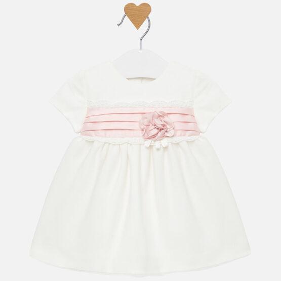 Rochie albă tul glitter bebe fetiță Mayoral