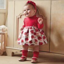 Rochie roșie floricele bebe fetiță Mayoral