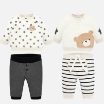 Set bluze-pantaloni alb-gri Mayoral