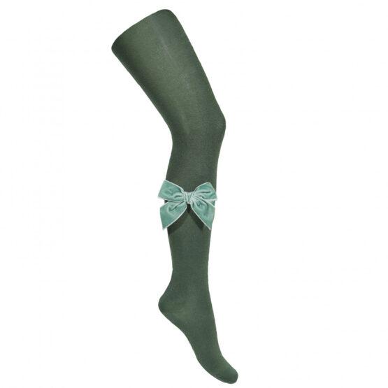 Ciorapi chilot verzi cu funda din catifea Condor