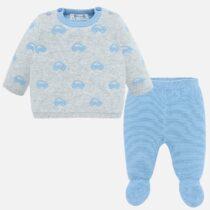 Set 2 piese albastru masinute bebe baiat