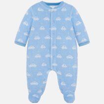 Salopeta albastra imprimeu masinute bebe baiat