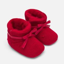 Cizme rosii imblanite bebe fetita
