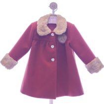 Palton pentru fetițe cărămiziu YD