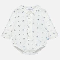 Body guler cămașă cu imprimeu cățeluși bebe băiat Mayoral