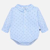 Body guler cămașă albastru cu imprimeu bebe băiat Mayoral